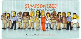 Orange is the New Black en version Simpson