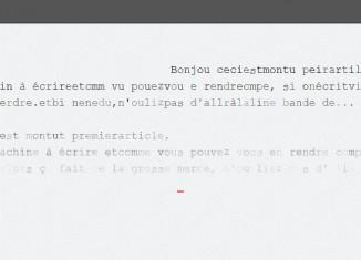 Ecrire sur son ordinateur avec une machine à écrire