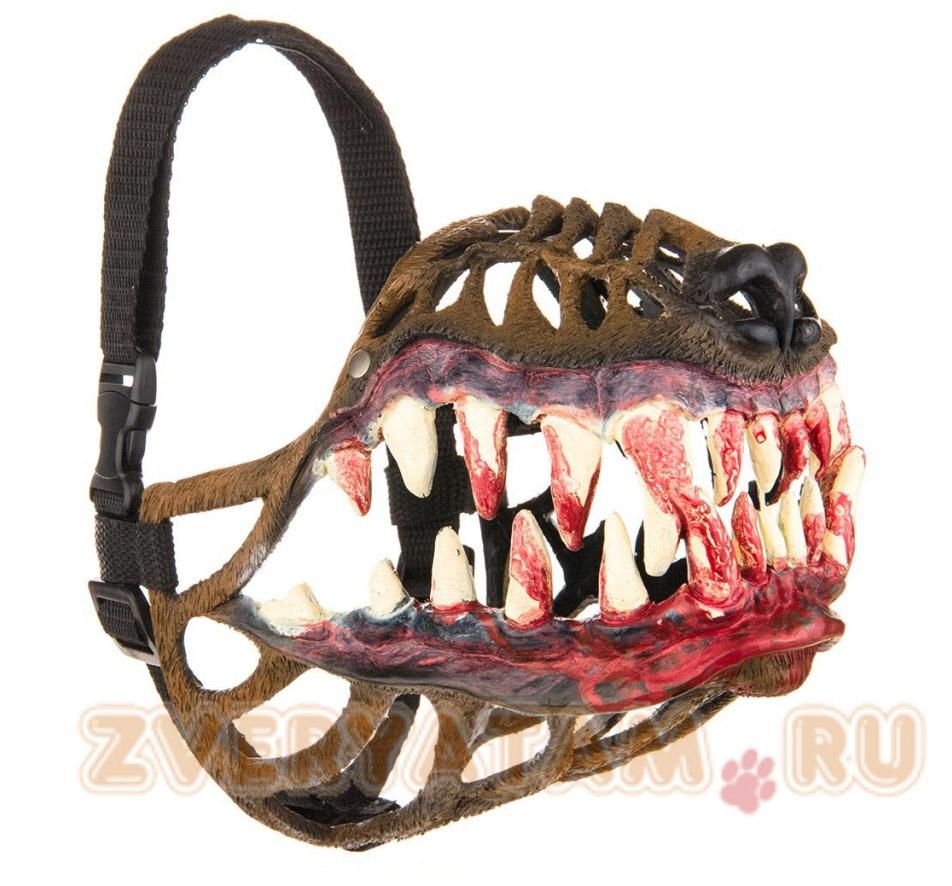 Muselière chien zombie