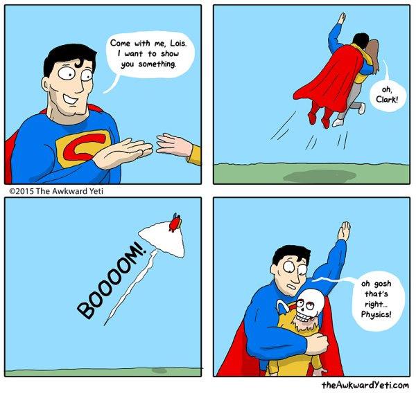 Superman et les lois de la physique