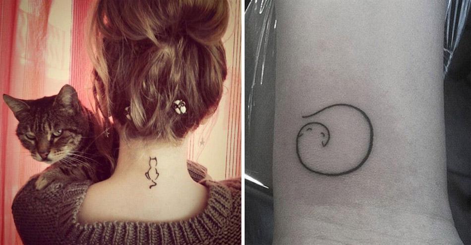 Des idées de tatouages de chats simples