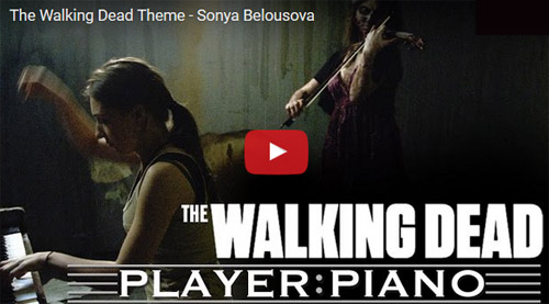 The Walking Dead au piano