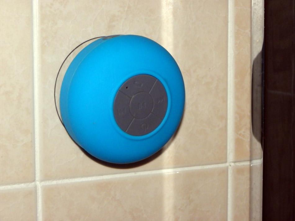 Haut-parleur pour la douche