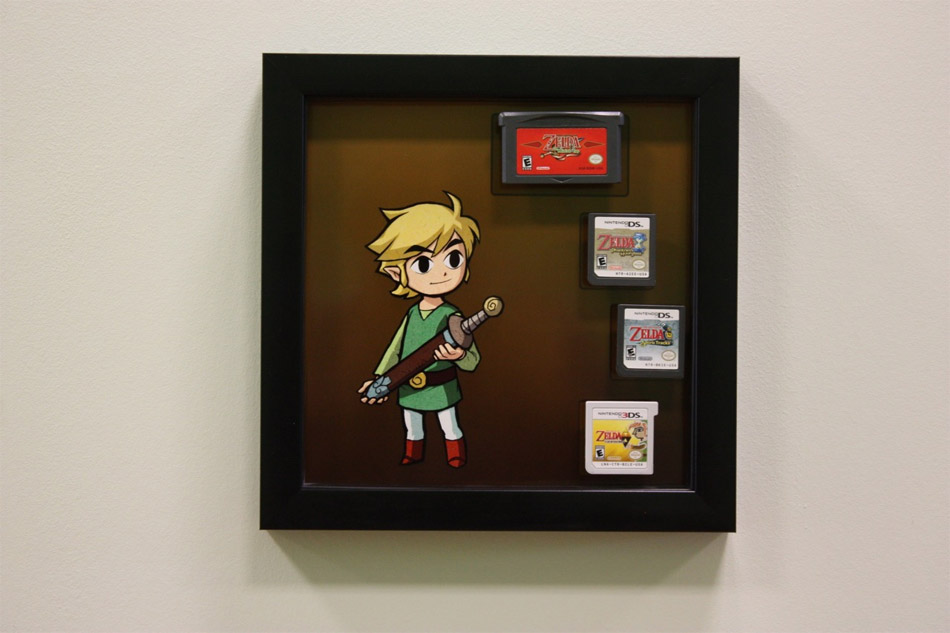 Sa collection de Zelda en guise de tableau