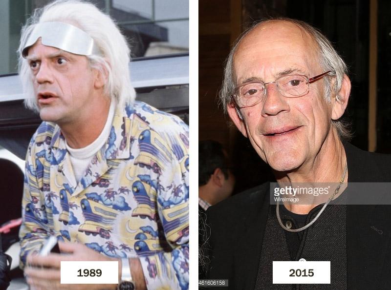 Les acteurs de Retour Vers le Futur en 2015