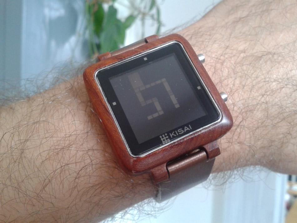 Montre Kisai Logo Wood LCD Watch