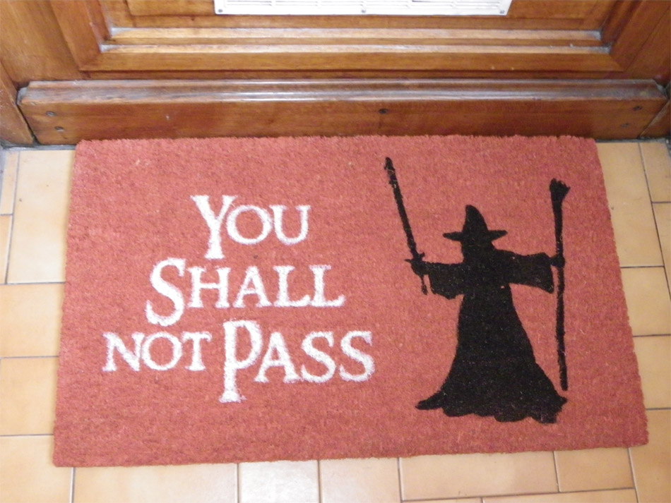 Paillasson You shall not pass