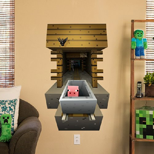 sticker mural minecraft chambre b b geek geek idee deco. Black Bedroom Furniture Sets. Home Design Ideas