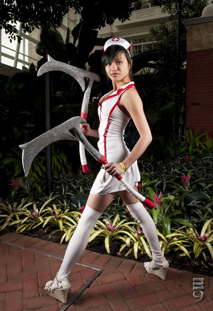 Cosplay sexy de Nurse Akali League of Legends