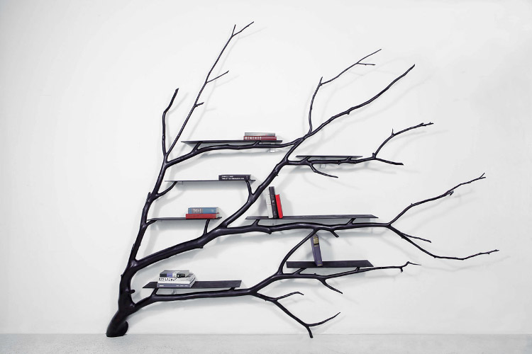 biblioth que arbre geek idee deco. Black Bedroom Furniture Sets. Home Design Ideas
