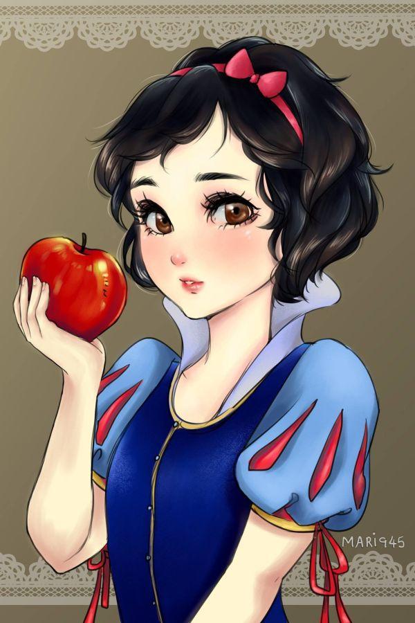 Les Princesses Disney en version Manga
