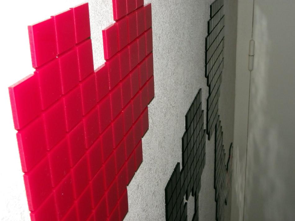 Décoration en pixels