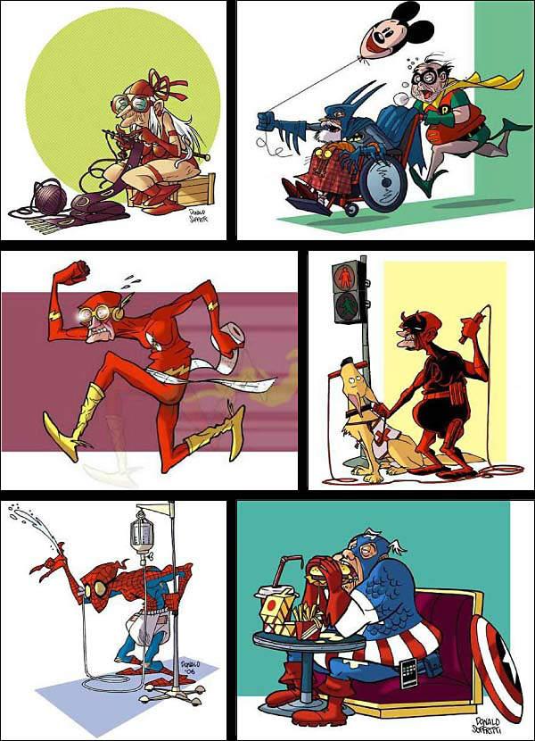 BD humour -SuperHeroVieux