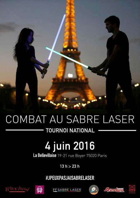 affiche sabre laser