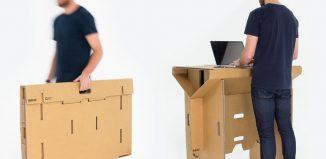 Bureau en carton transportable