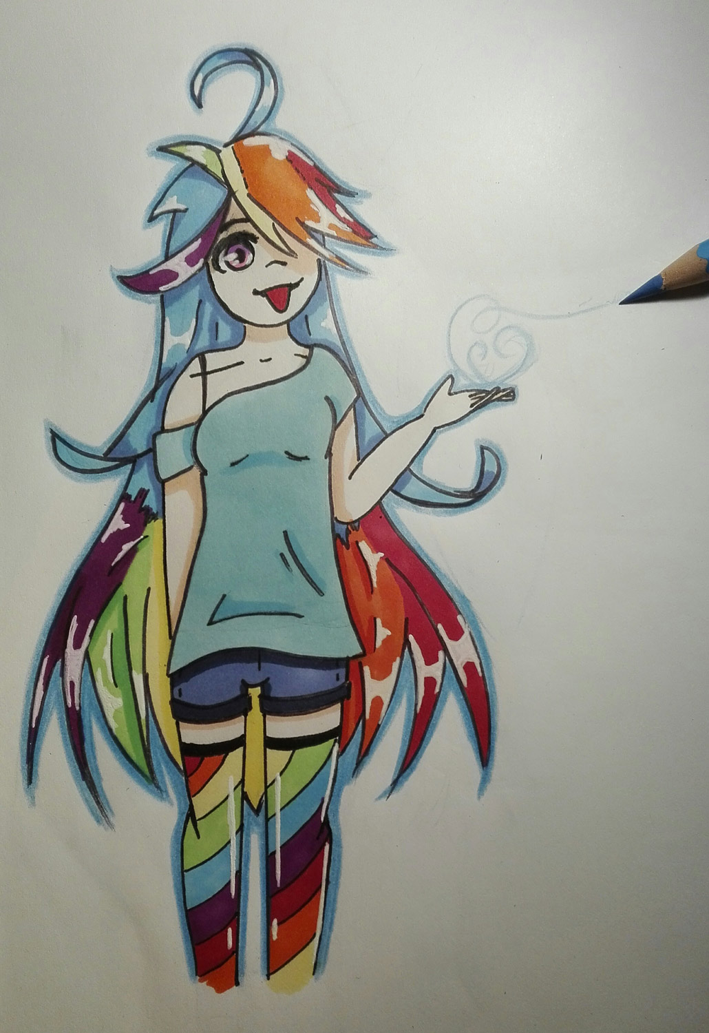 Rainbow Dash en version humanisée
