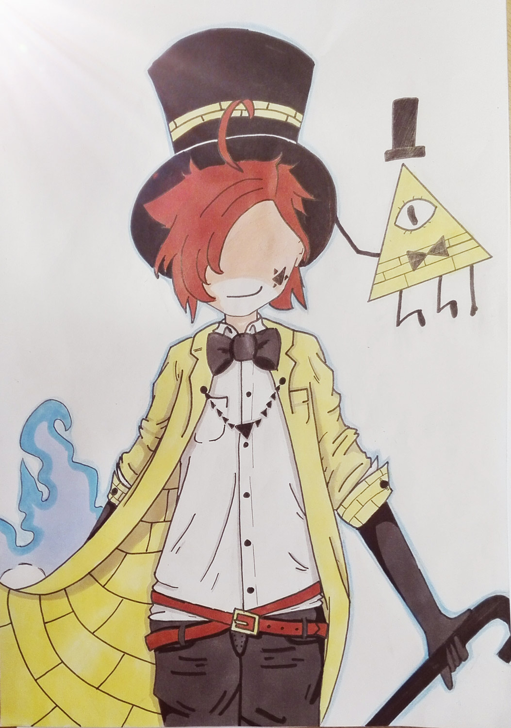 Bill Cipher de Gravity Fallsen version humanisée