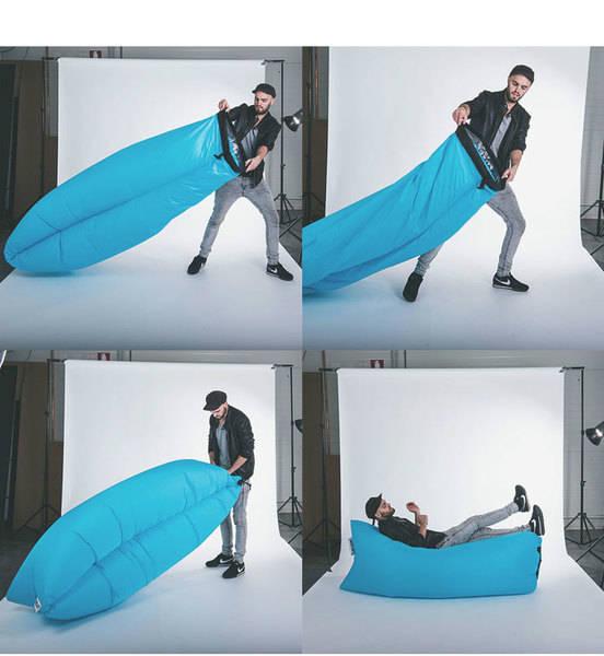 pouf hamac gonflable geek. Black Bedroom Furniture Sets. Home Design Ideas