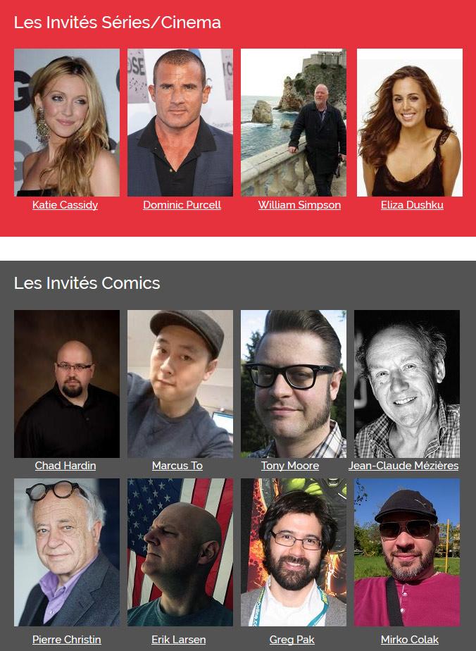 Comic Con de Paris 2016: Les invités