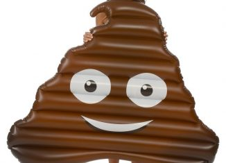 Matelas gonflable Emoji Caca