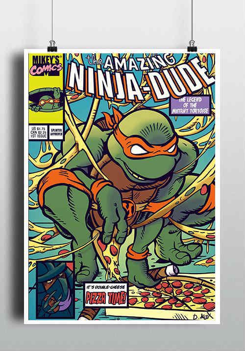 affiche turtle