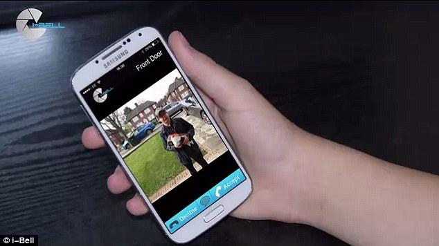 Sonnette connectée à son smartphone