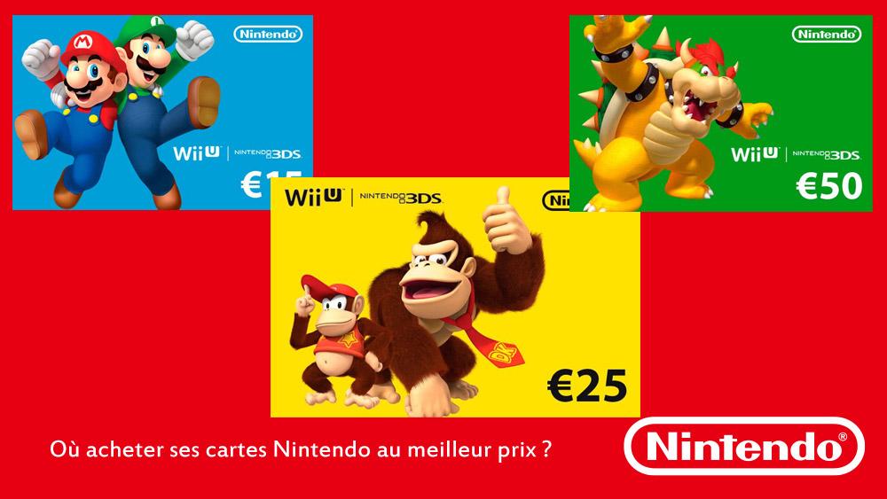 Acheter carte Nintendo pas cher