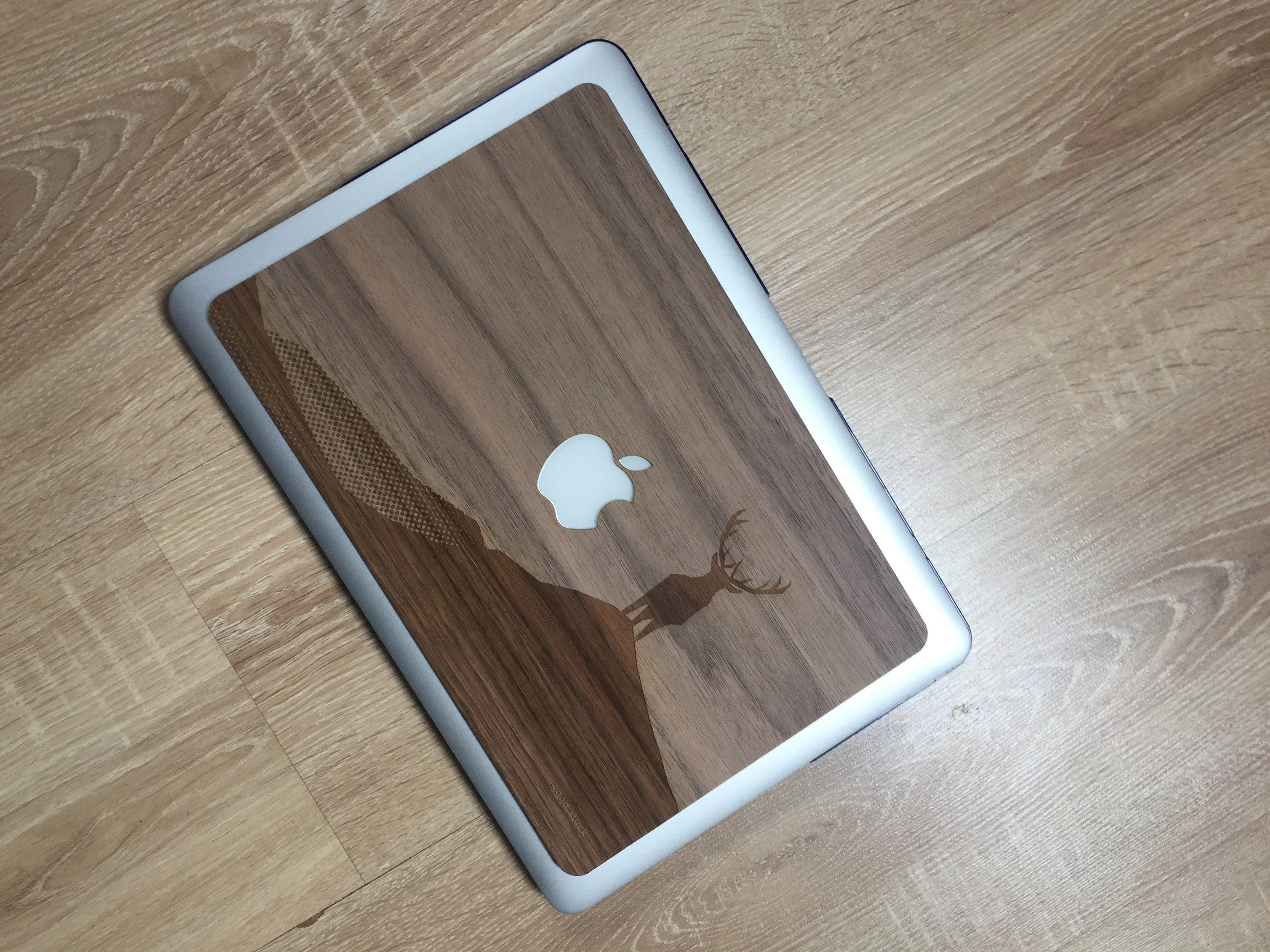 coque macbook bois woodstuck