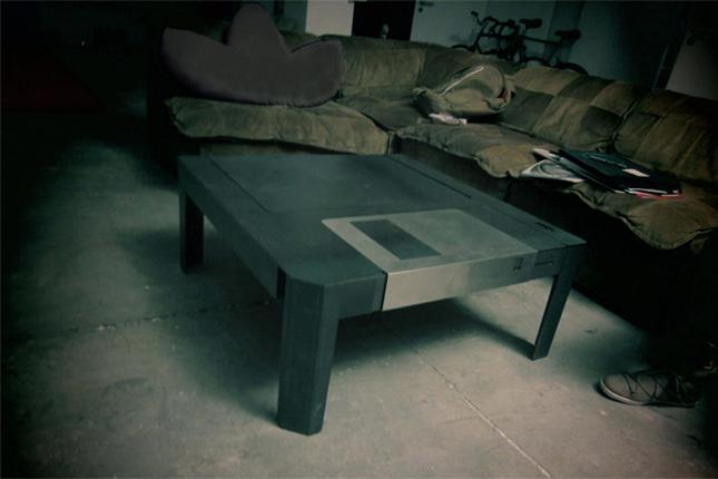 Table basse disquette d'ordinateur