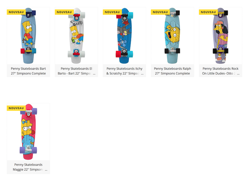 skateboard penny the simpson edition limitée