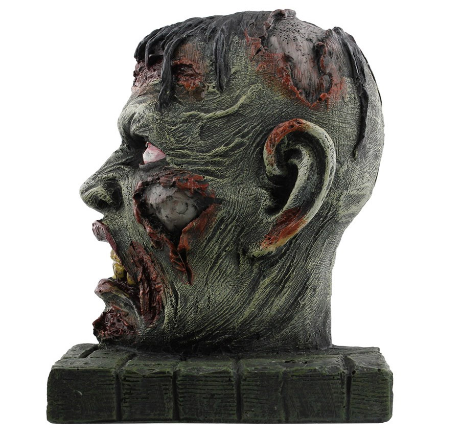 Deux têtes de zombies pour tenir vos bouquins