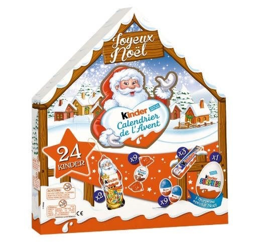 calendrier de l'avant kinder chocolat