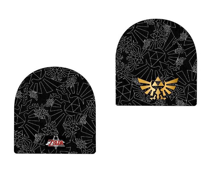 Bonnet noir avec triforce