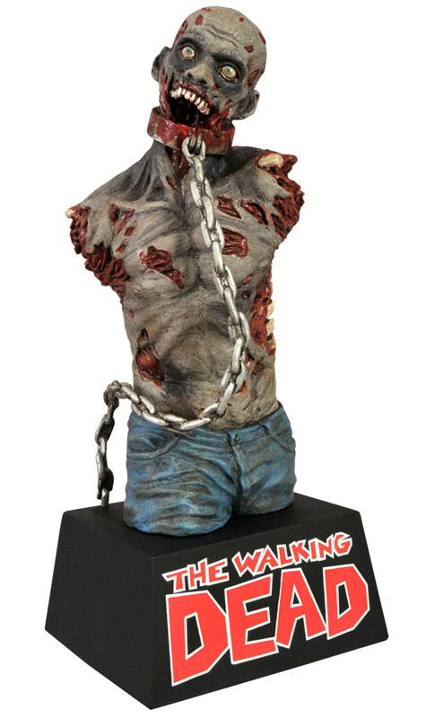 La tirelire zombie de Michonne en couleur