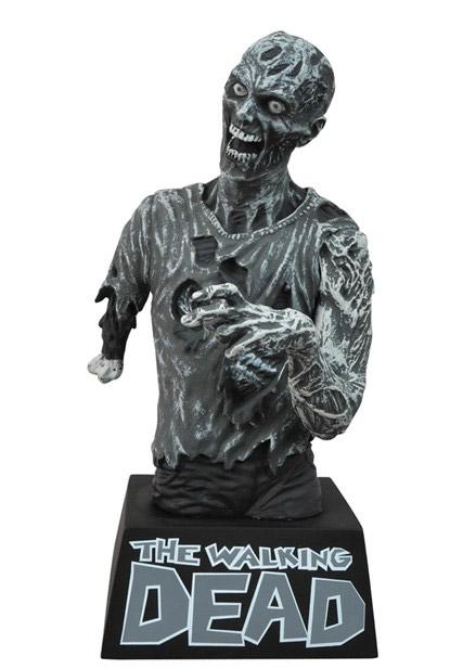 Une autre tirelire zombie en noir et blanc