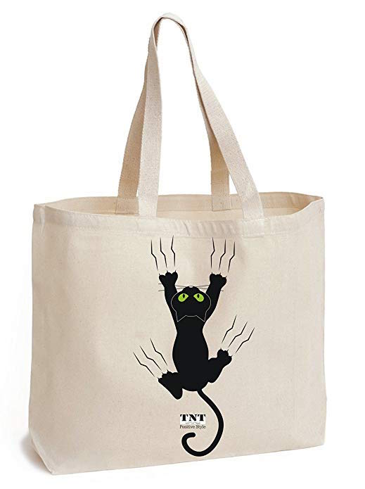 tote bag chat pour la plage
