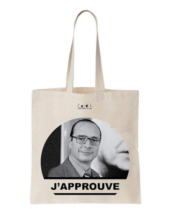 tote bag plage jacques chirac swag
