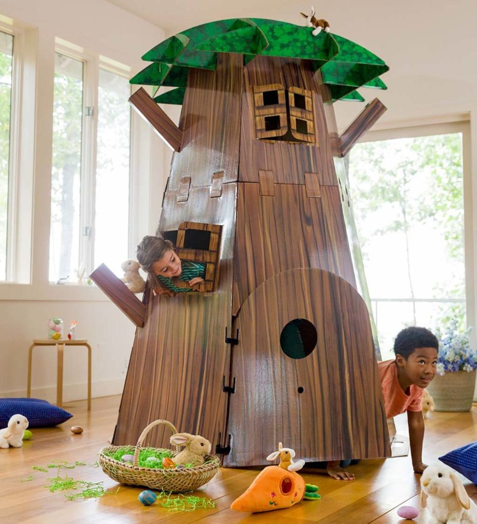 Kit de construction grand arbre en carton