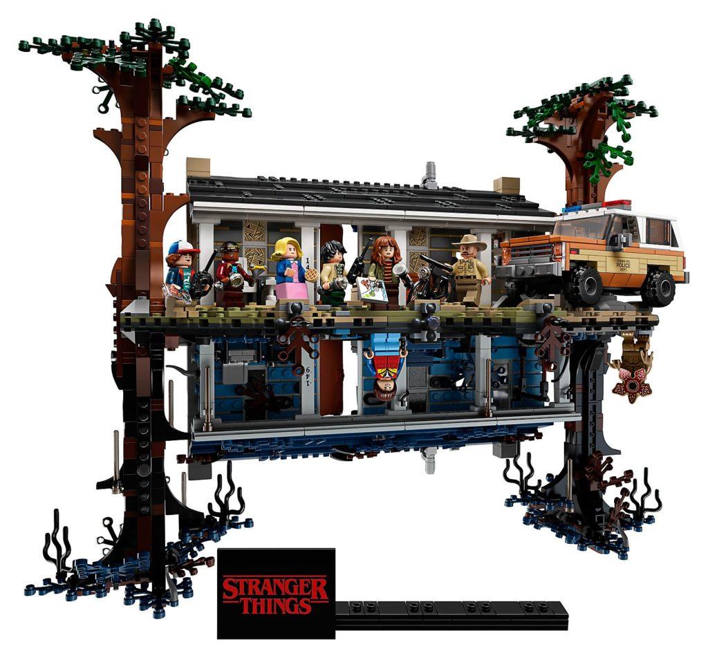 La maison dans le monde à l'envers de Stranger Things 75810 en Lego