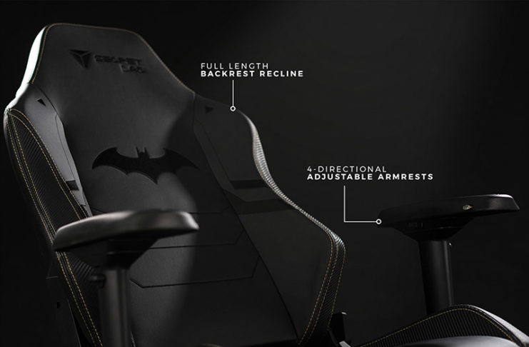 Chaise de gaming batman