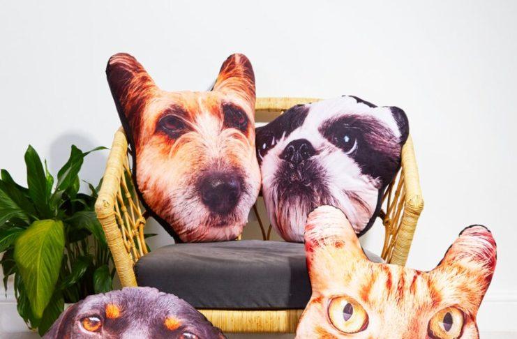Coussin personnalisé avec la tête de ton chien ou chat